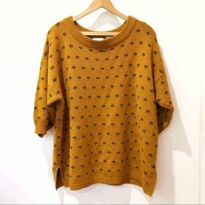 Vintage mustard yellow sweater